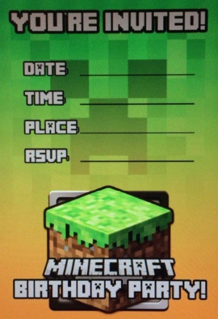 Minecraft Birthday Invite Templates Fresh Templates for Minecraft Party Invitations