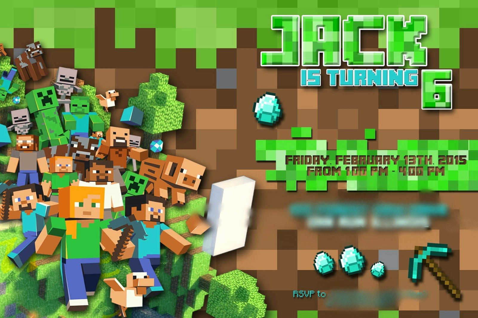Minecraft Birthday Invite Templates Inspirational the Real Housewife Of Tazewell County Minecraft Party