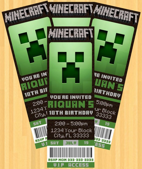 Minecraft Birthday Invite Templates Luxury the Best Minecraft Party Ideas for the Ultimate Minecraft