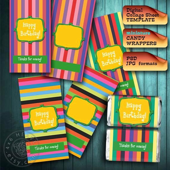 Mini Candy Bar Wrapper Template Inspirational Mini Candy Bar Wrappers Template 8 5x11 Page Diy by 4x6heaven