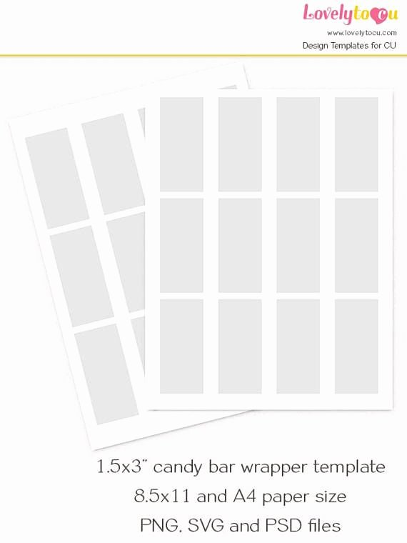 Mini Candy Bar Wrapper Template Lovely Mini Chocolate Bar Wrapper Template Candy Bar Custom Wrap