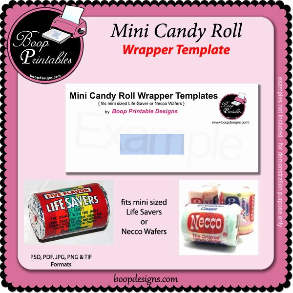 Mini Candy Bar Wrapper Template Lovely Mini Sized Candy Roll Wrapper Template by Boop by