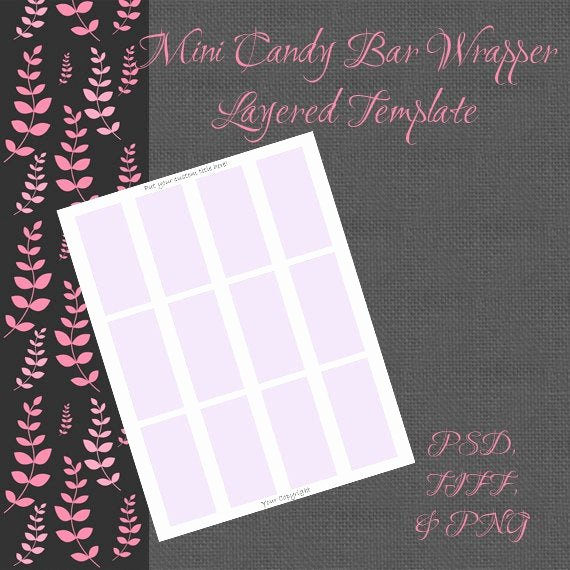 Mini Candy Bar Wrapper Template Luxury Mini Candy Bar Wrappers Digital Template by Artistryathome