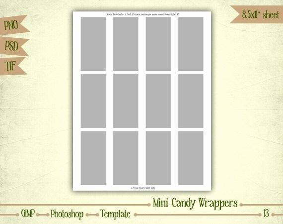 Mini Candy Bar Wrapper Template New Mini Candy Bar Wrappers Digital Collage Sheet Layered