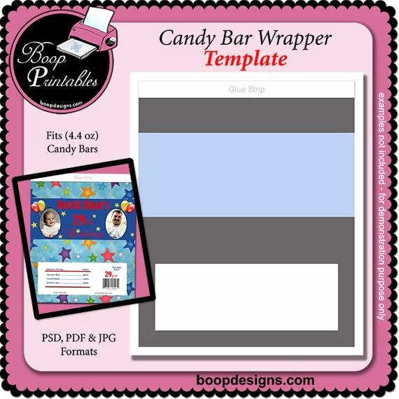 Mini Candy Bar Wrapper Templates Beautiful Candy Bar Wrapper Gift or Party Favor Template 4 4oz by