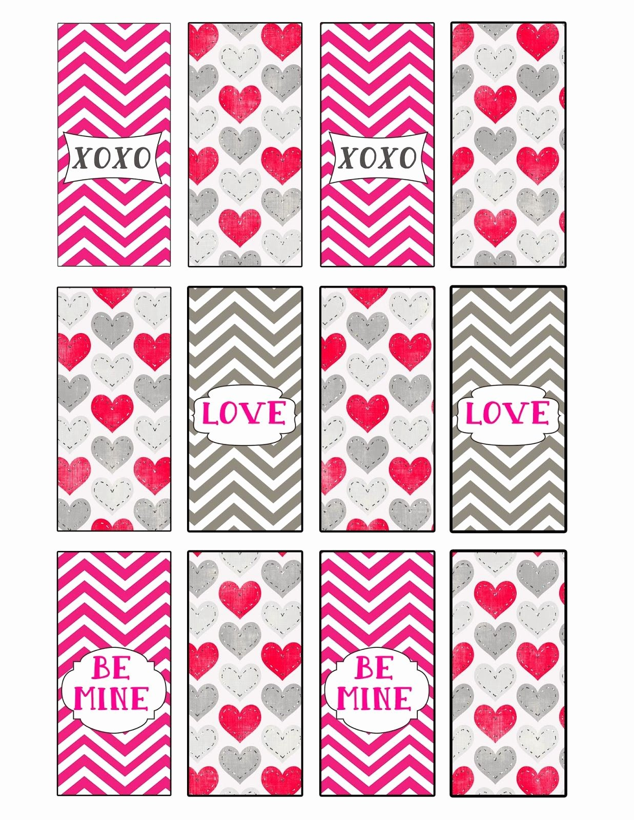 Mini Candy Bar Wrapper Templates Fresh Desert Peach Design Valentines Mini Candy Bar Wrappers
