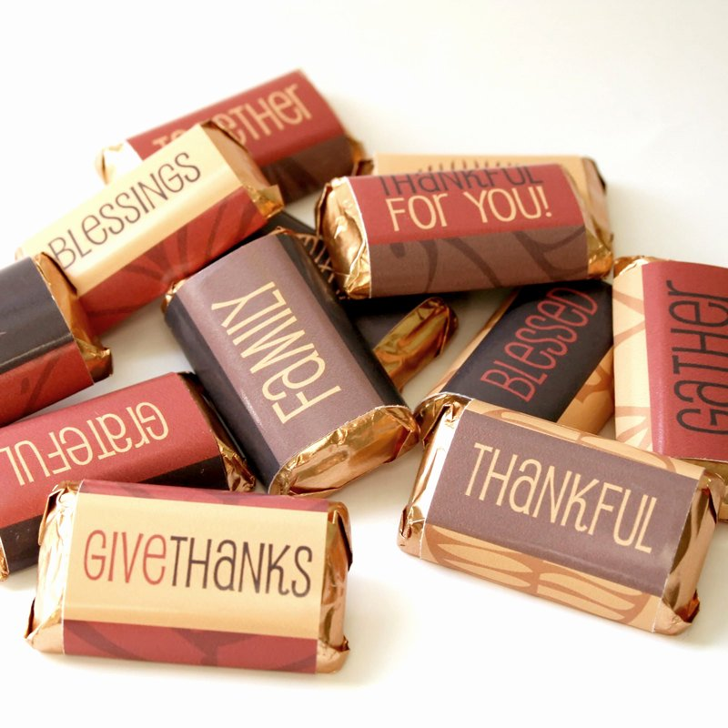Mini Candy Bar Wrapper Templates Fresh Thanksgiving Candy Bar Wrappers Printable Digital File