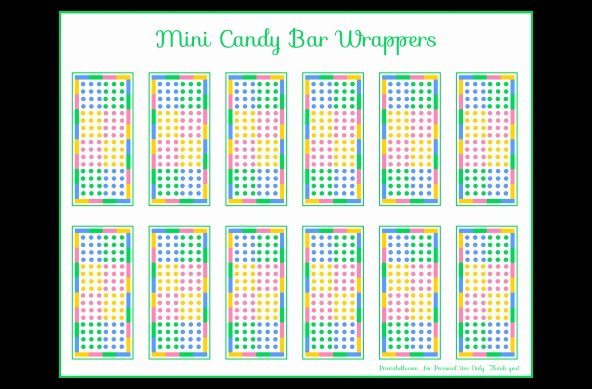 Mini Candy Wrapper Templates Beautiful Free Candy Dot Mini Candy Bar Wrapper Printable
