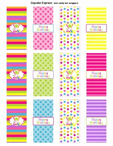 Mini Candy Wrapper Templates Luxury Candy Shoppe Printable Mini Candy Bar Wrappers