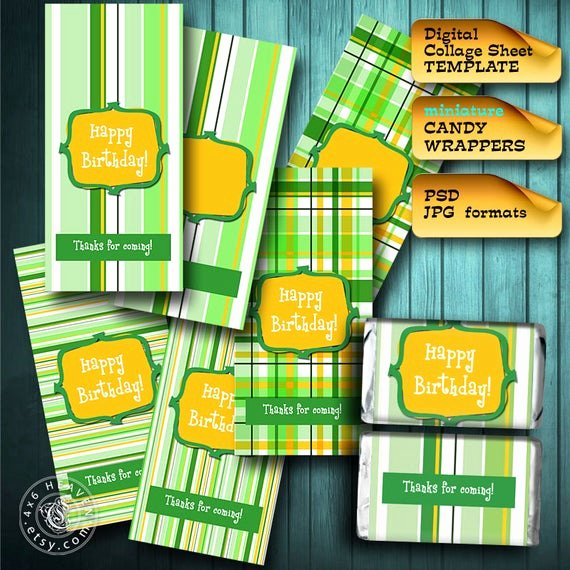 Mini Candy Wrapper Templates Luxury Mini Candy Bar Wrappers Template 8 5x11 Page Diy by 4x6heaven