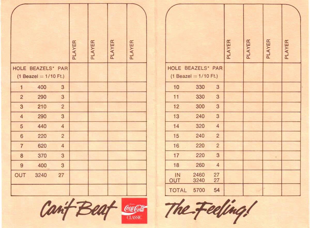 Mini Golf Score Card Beautiful Score Cards Of Crazy Golf Miniature Golf and Adventure