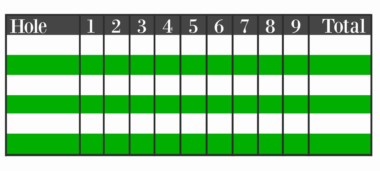 Mini Golf Score Card Best Of Mini Golf Scorecard Template