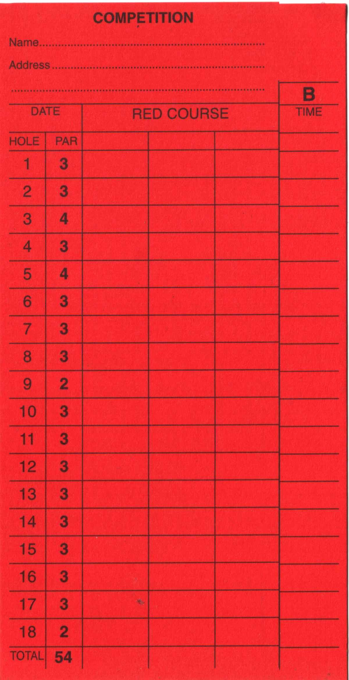 Mini Golf Score Card Best Of Score Cards Of Crazy Golf Miniature Golf and Adventure