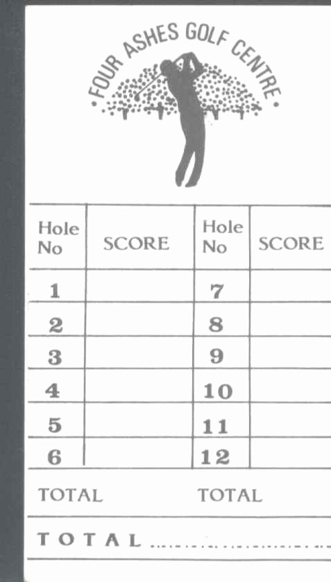 Mini Golf Score Card Elegant Score Cards Of Crazy Golf Miniature Golf and Adventure