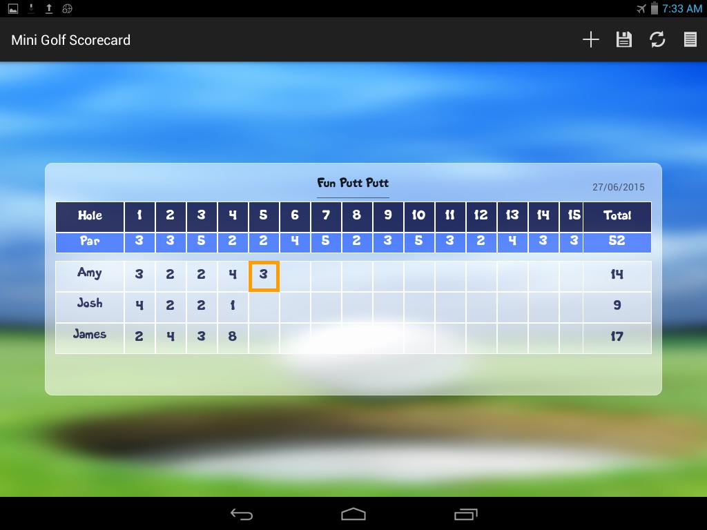 Mini Golf Score Card New Mini Golf Scorecard android Apps On Google Play