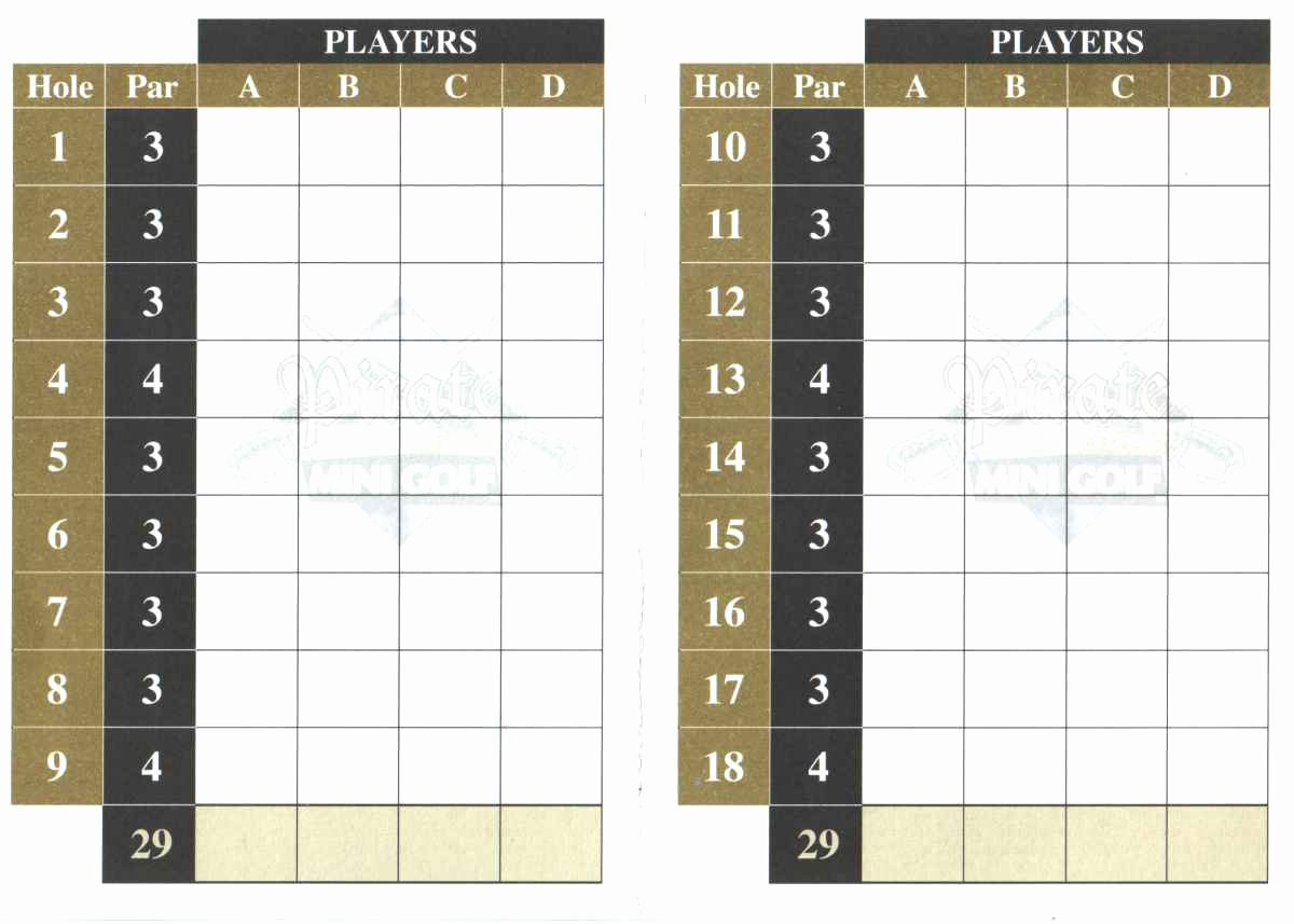 Mini Golf Score Cards Awesome Score Cards Of Crazy Golf Miniature Golf and Adventure