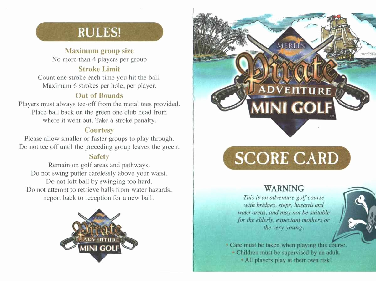 Mini Golf Score Cards Lovely Score Cards Of Crazy Golf Miniature Golf and Adventure