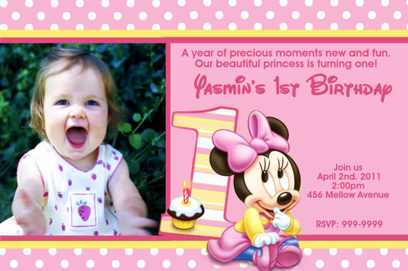 Minnie Mouse 1st Birthday Invitation Awesome Minnie Mouse 1st Birthday Invitations Ideas – Bagvania