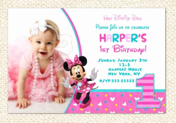 Minnie Mouse 1st Birthday Invitation Awesome Minnie Mouse 1st Birthday Invitations Minnie Invitations