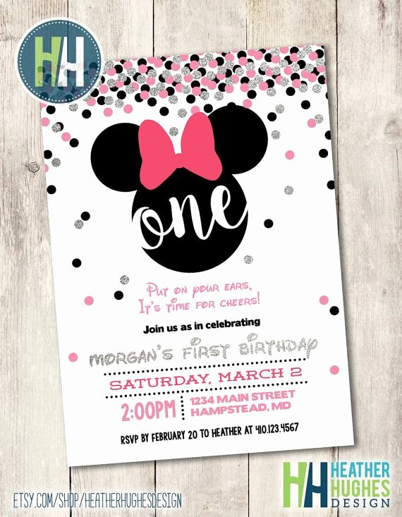 Minnie Mouse 1st Birthday Invitation Beautiful Best 25 Minnie Mouse Birthday Invitations Ideas On