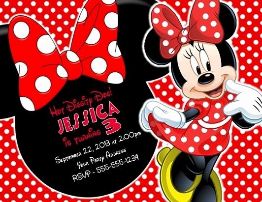 Minnie Mouse 1st Birthday Invitation Beautiful Minnie Mouse Birthday Party Invitations Invites