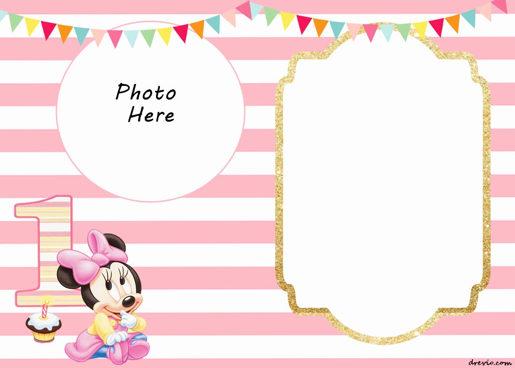 Minnie Mouse 1st Birthday Invitation Elegant Free Printable Minnie Mouse 1st Invitation Templates