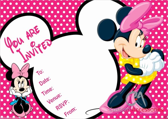 Minnie Mouse 1st Birthday Invitation Fresh 32 Superb Minnie Mouse Birthday Invitations