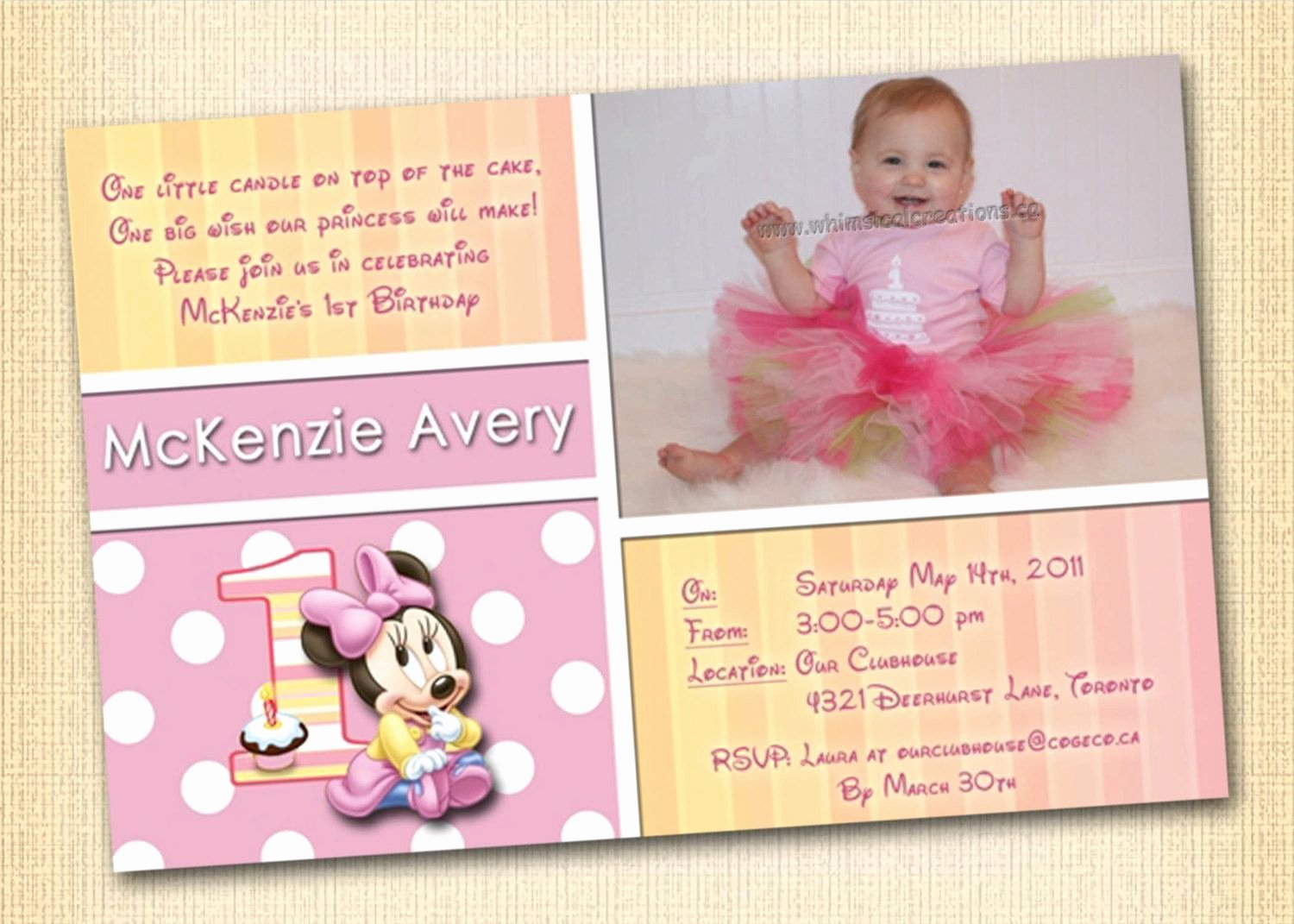 Minnie Mouse 1st Birthday Invitation Fresh Minnie Mouse 1st Birthday Invitation Digital File Minnie
