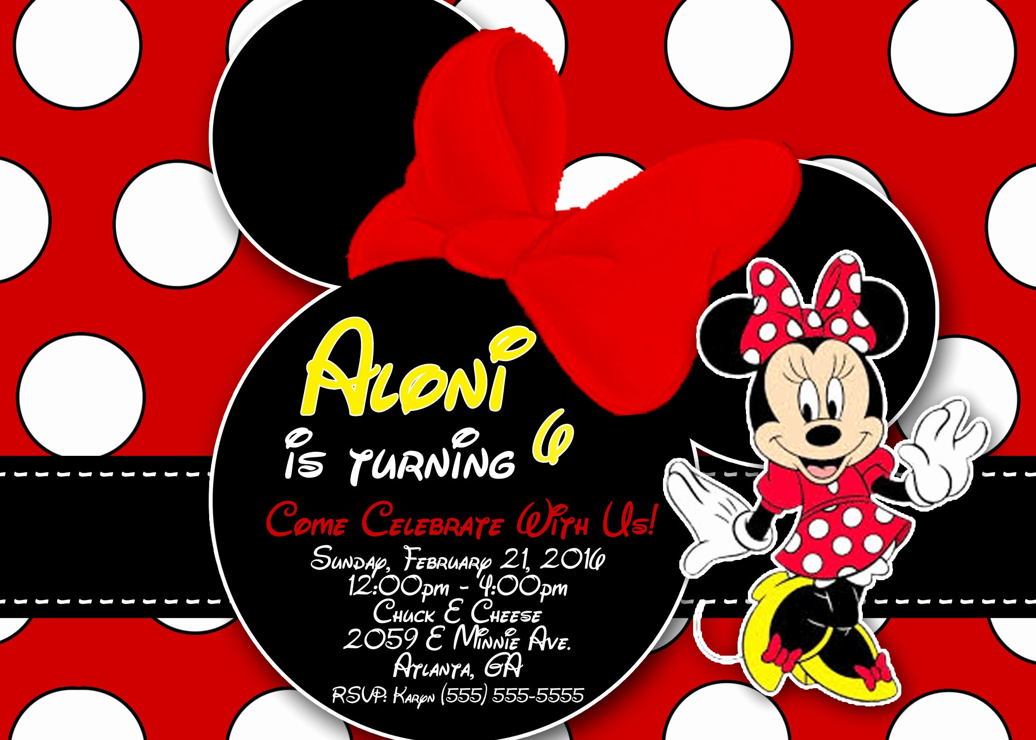 Minnie Mouse 1st Birthday Invitation Fresh Minnie Mouse Birthday Invitations
