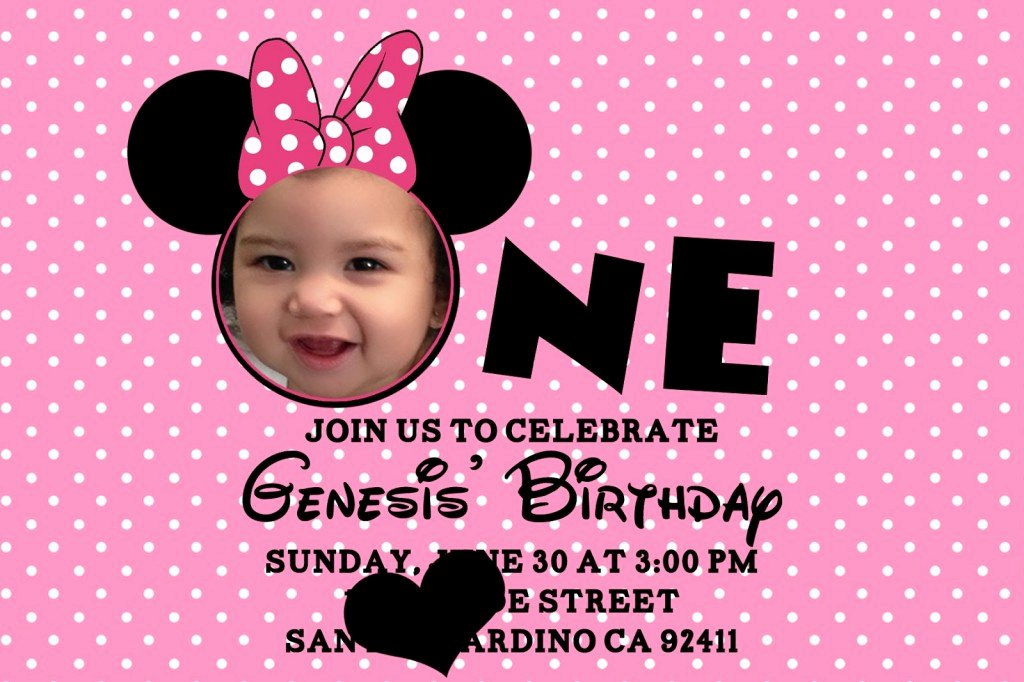 Minnie Mouse 1st Birthday Invitation Inspirational Minnie Mouse 1st Birthday Invitations Ideas – Bagvania