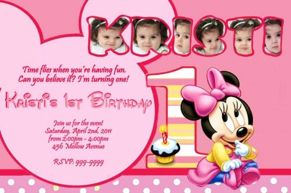 Minnie Mouse Birthday Invitation Wording Best Of Minnie Mouse Birthday Invitation 365greetings