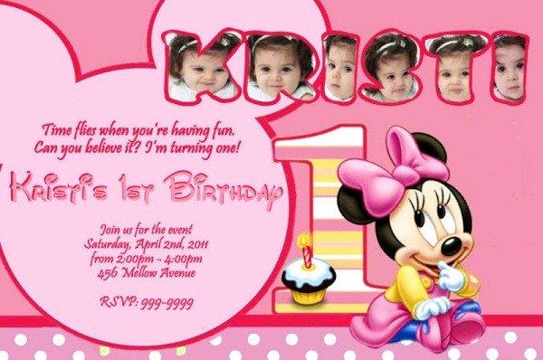 Minnie Mouse Birthday Invitation Wording Best Of Minnie Mouse Birthday Invitation 365greetings