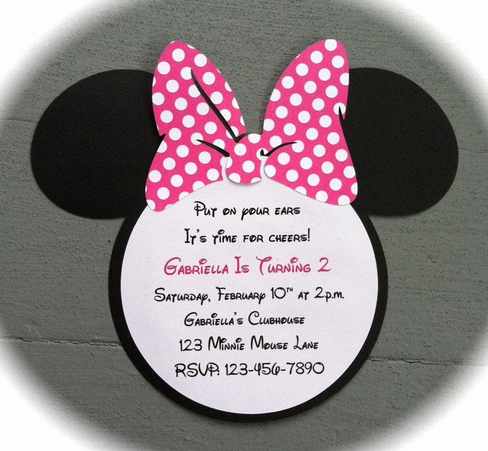 Minnie Mouse Birthday Invitation Wording Luxury 22 Custom Birthday Invitations