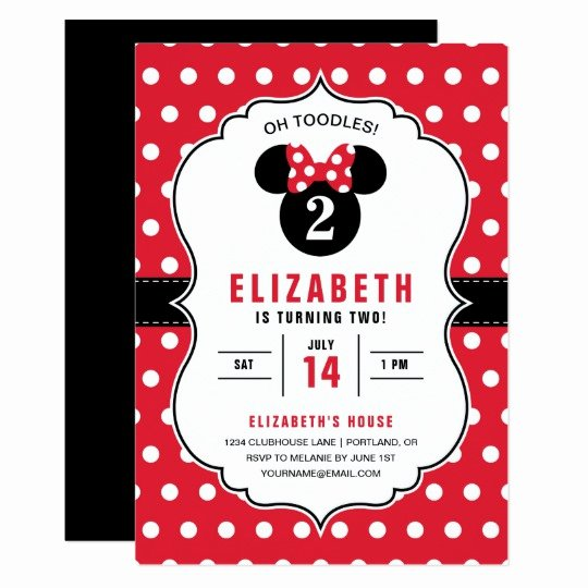 Minnie Mouse Birthday Invitation Wording New Minnie Mouse