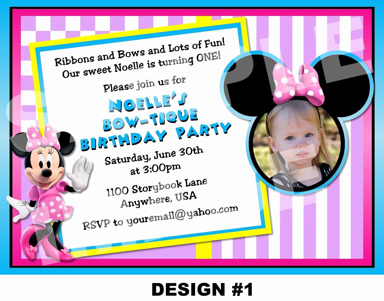 Minnie Mouse Birthday Invitation Wording Unique Minnie Mouse Birthday Invitation Minnie by Storybooklanecrafts