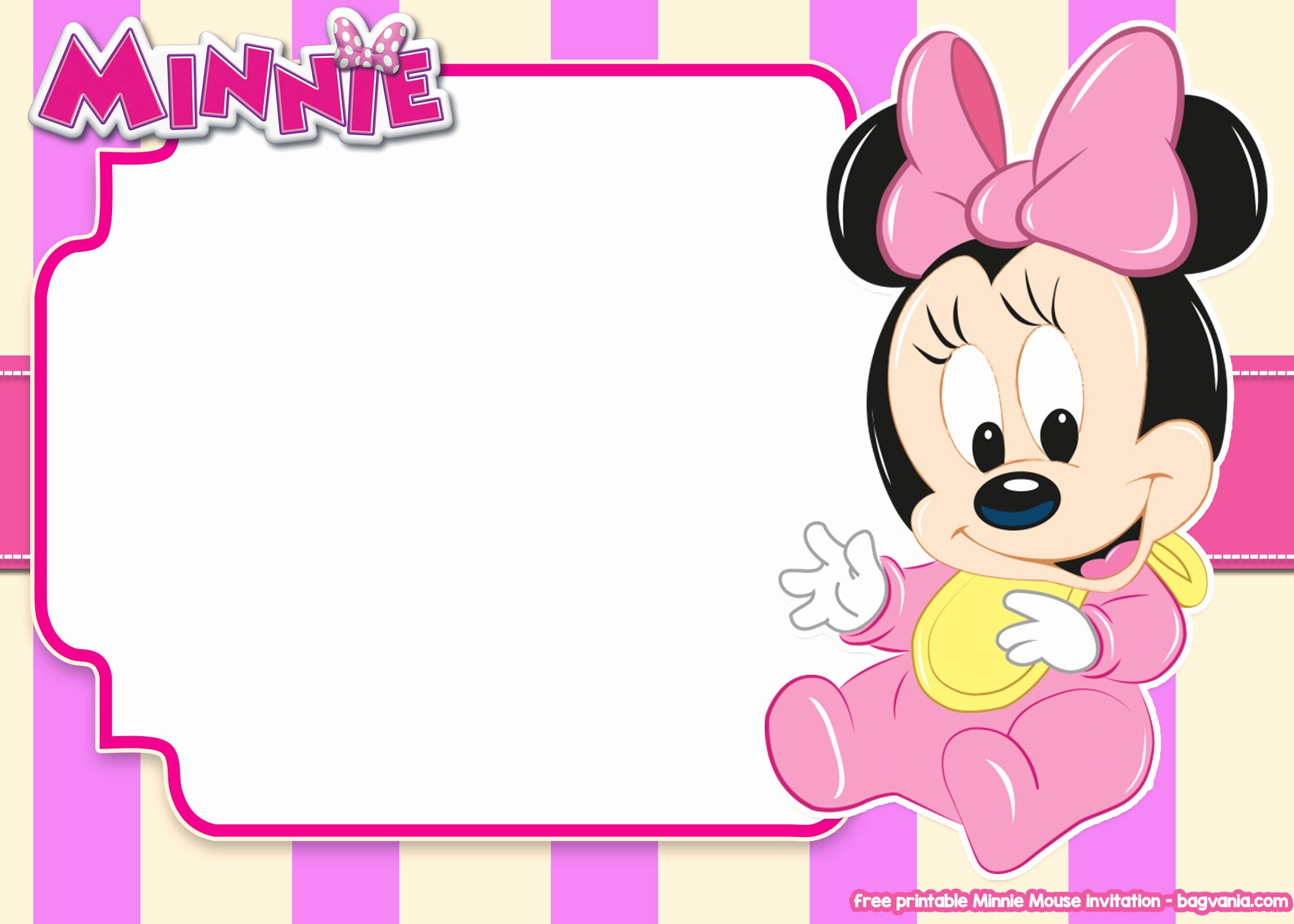 Minnie Mouse Blank Invitation Best Of 14 Free Printable Minnie Mouse All Ages Invitation