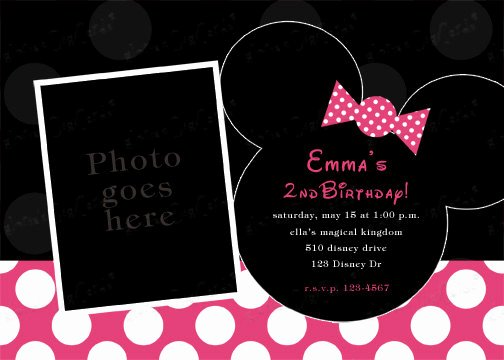 Minnie Mouse Blank Invitation Fresh Minnie Mouse Invitation Template