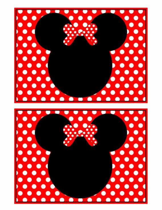 Minnie Mouse Blank Invitation Lovely Etsy Your Place to and Sell All Things Handmade