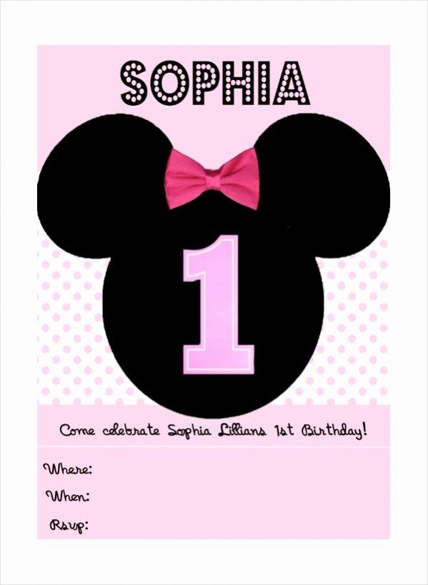 Minnie Mouse Blank Invitation Luxury 13 Cute Minnie Mouse Invitation Design Psd Vector Eps