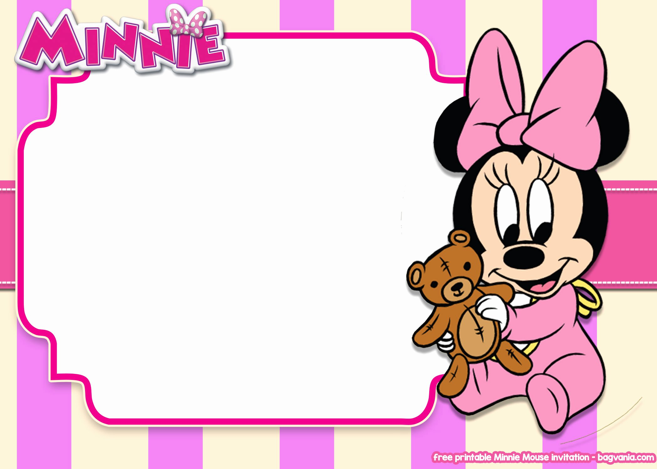 Minnie Mouse Blank Invitation Luxury 14 Free Printable Minnie Mouse All Ages Invitation