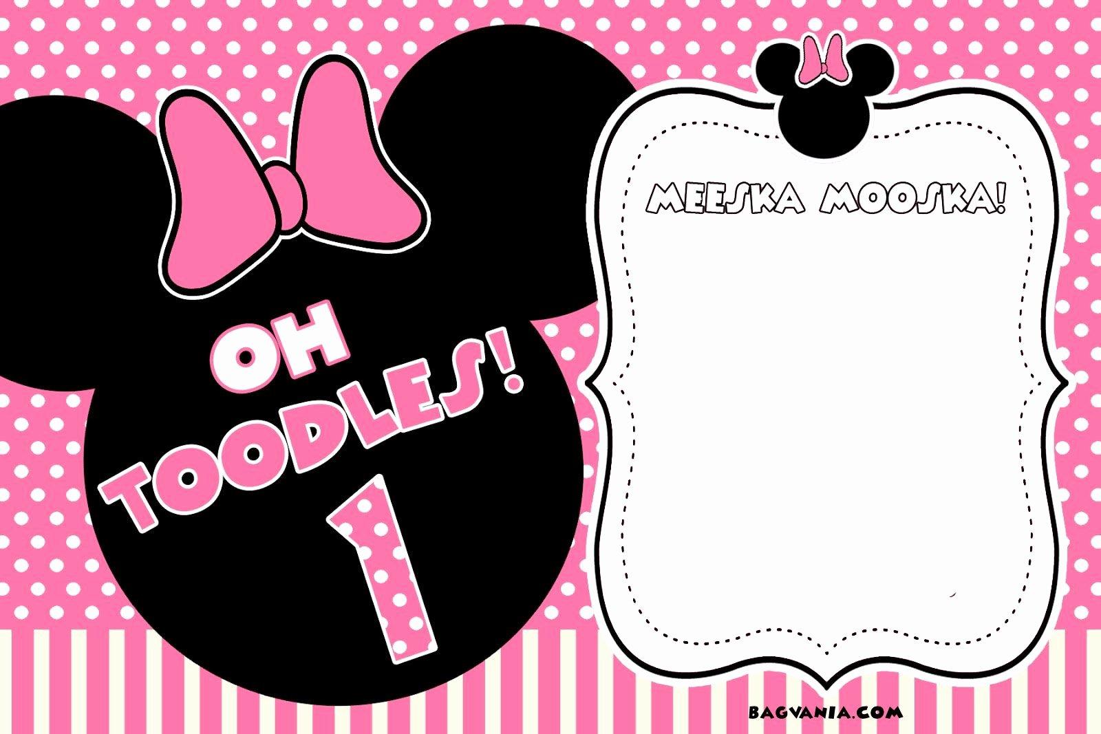 Minnie Mouse Blank Invitation Luxury Free Free Printable Minnie Mouse Birthday Invitations