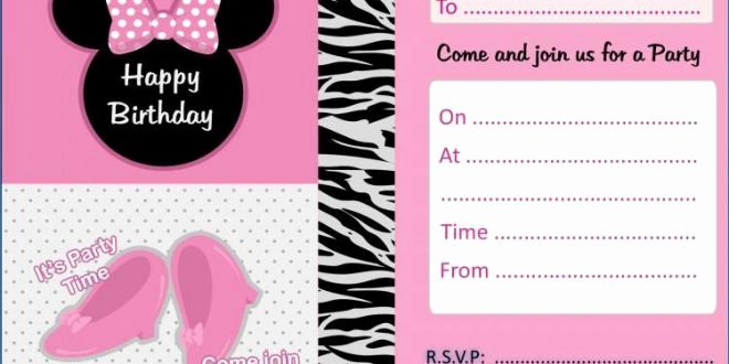 Minnie Mouse Blank Invitation Luxury Minnie Mouse Blank Invitation