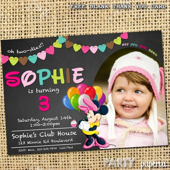 Minnie Mouse Blank Invitation Luxury Minnie Mouse Invitation Free Blank Thank You Card by