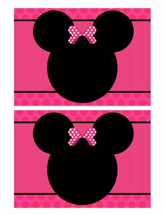 Minnie Mouse Blank Invitation New Disney Mickey Mouse Ears Template