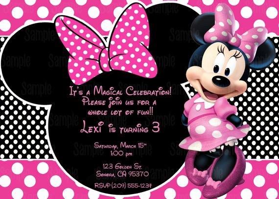 Minnie Mouse Blank Invitation New Printable Minnie Mouse Invitation Plus Free Blank Matching