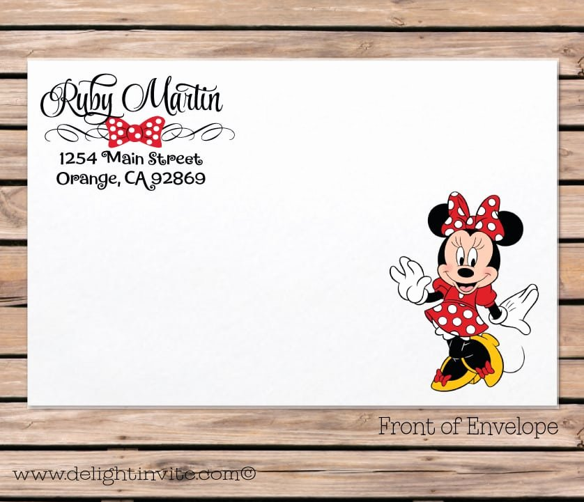 Minnie Mouse Blank Invitation Unique Blank Minnie Mouse Invitation
