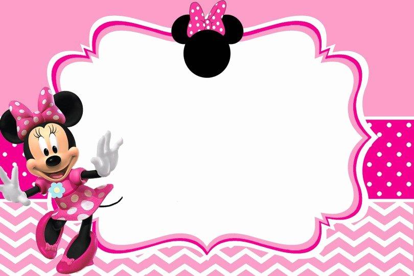 Minnie Mouse Blank Invitation Unique Minnie Mouse Free Printable Invitation Templates
