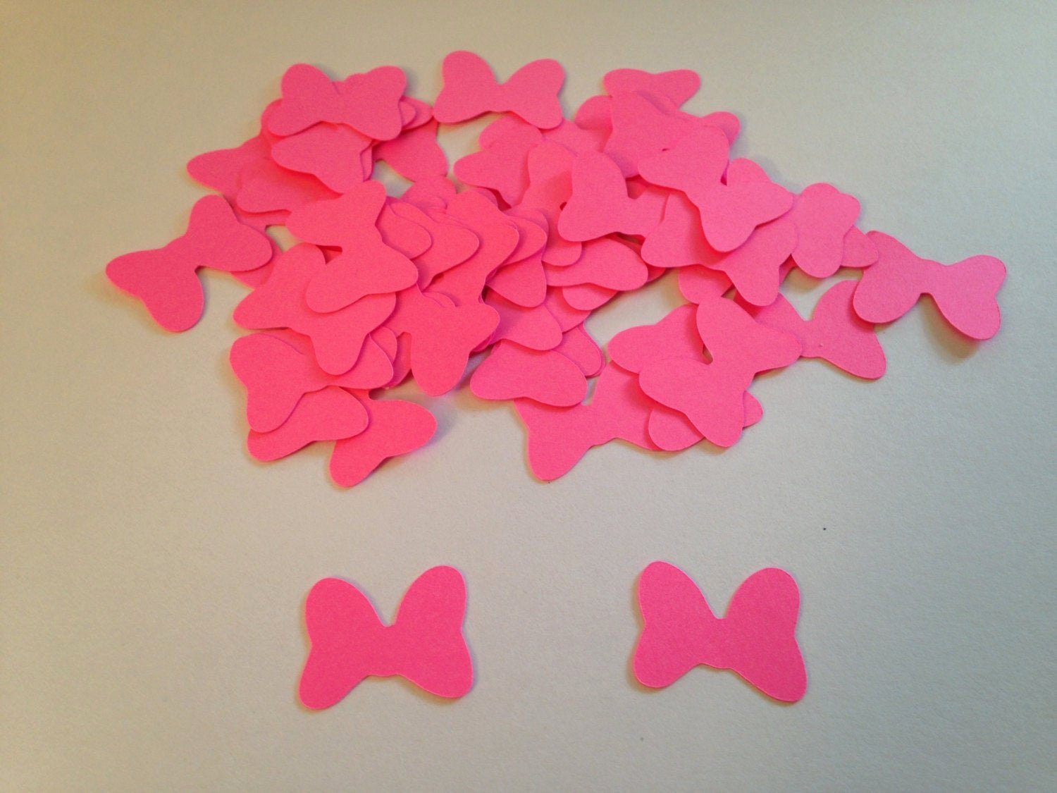 Minnie Mouse Bow Cut Out Beautiful 100 Hot Pink Minnie Mouse Bow Die Cut Punch Cutout Confetti