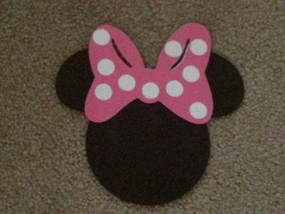 Minnie Mouse Bow Cut Out Beautiful Items Similar to Minnie Mouse Head Cut Out with Bow