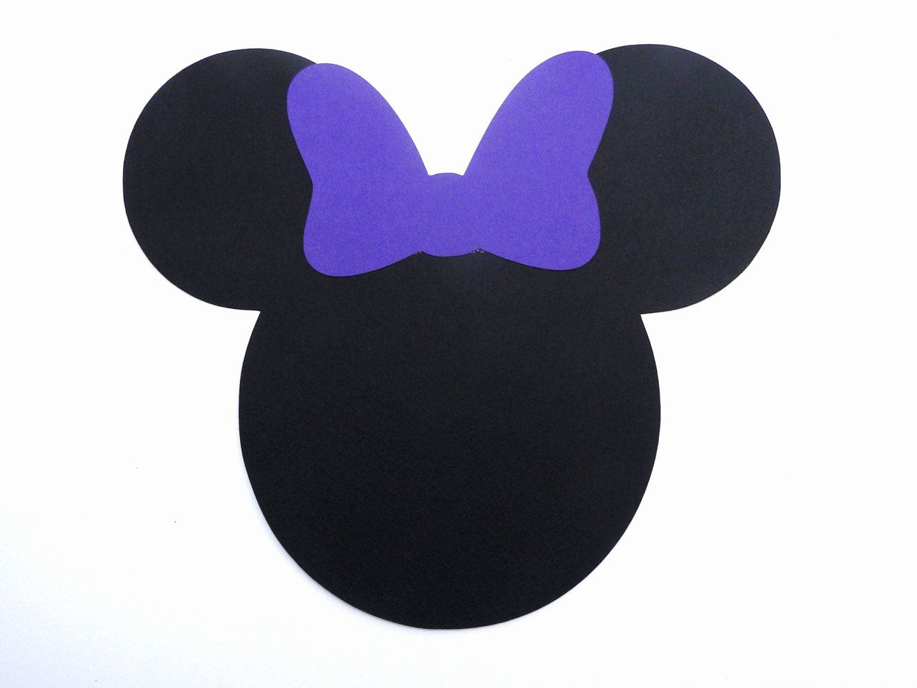 Minnie Mouse Bow Cut Out Beautiful Minnie Mouse Head with Bow Die Cut Any Color Bow and Ears